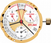 Movimento ETA cal. 251264=251262- 3 Eye Chrono swiss made